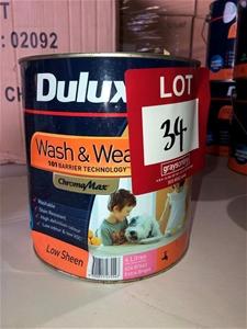 1 x 4ltr Dulux Paint, Extra Bright 89639