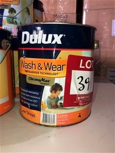 1 x 4ltr Dulux Paint, Orange 89639-366