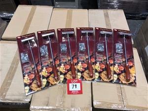 6 x 62pcs BBQ Branding Iron Set