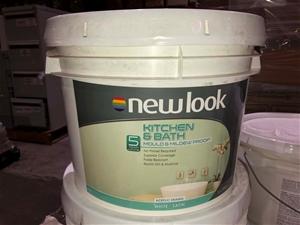 10ltr White Satin Paint, Kitchen & Bathr