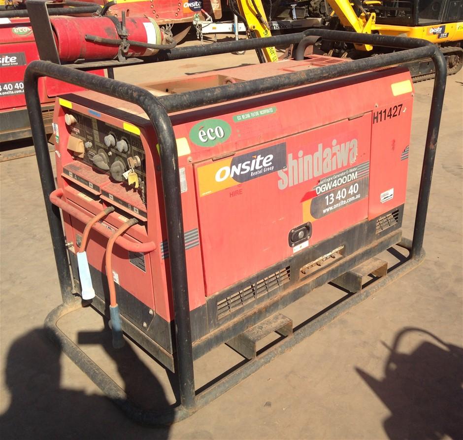 2010 Shindaiwa 400Amp Diesel Welder/Generator (Location: Kalgoorlie)