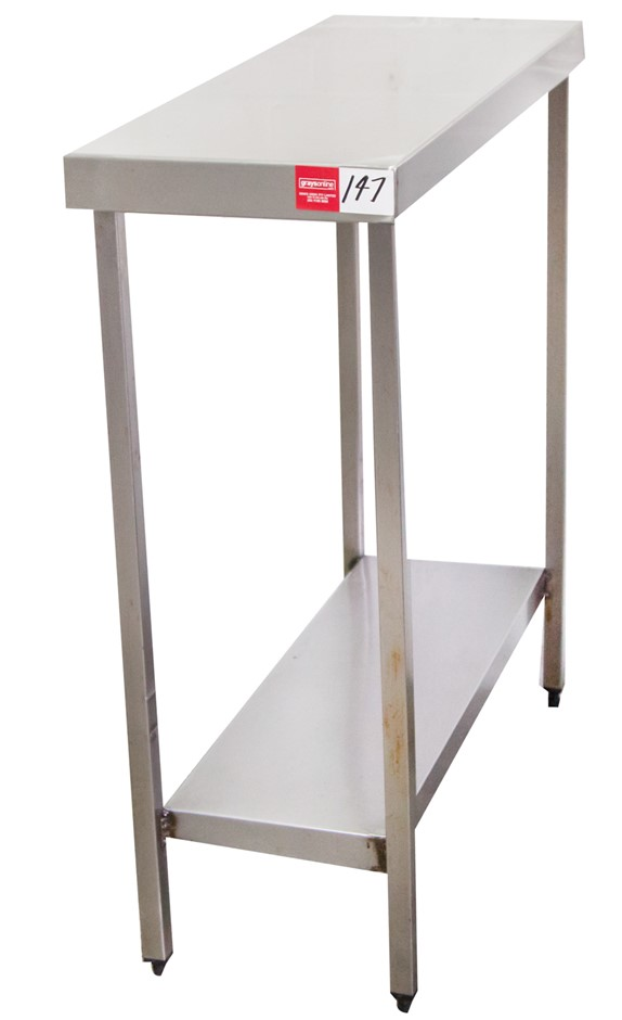 Stainless Steel Kitchen Infill Bench with Undershelf
