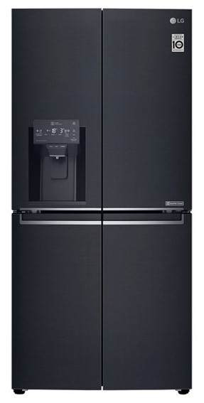LG GF-L570MBL 570L Slim French Door Fridge, in Matte Black Finish