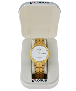 Lorus Gold Toned Stainless Steel Gents D