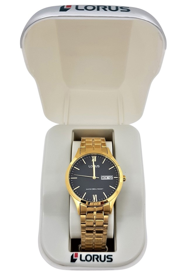 Lorus Gold Toned Stainless Steel Gents Dress Watch
