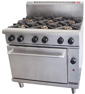 Waldorf Gas 6 Burner Stove with Oven