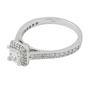 18ct White Gold, 0.84ct Diamond Engageme