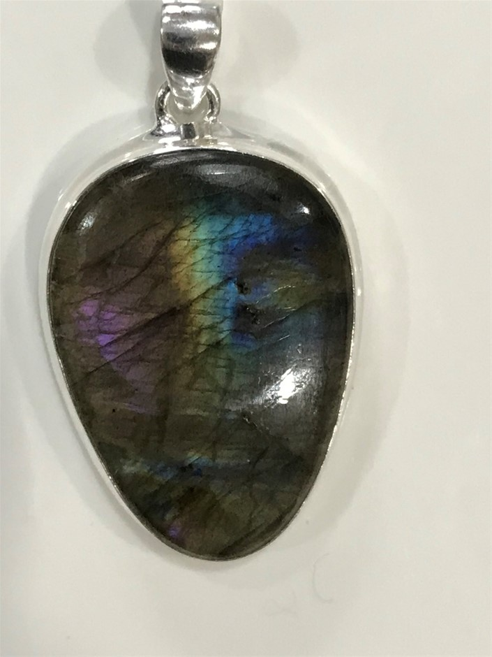 Magnificent Handcrafted Labradorite Pendant