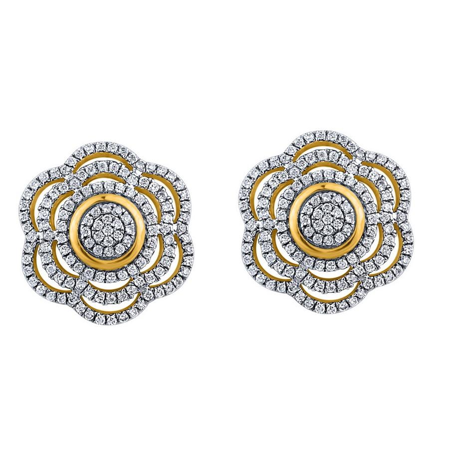 9ct Yellow Gold, 0.39ct Diamond Earring