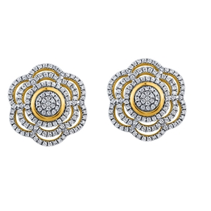 9ct Yellow Gold, 0.39ct Diamond Earring