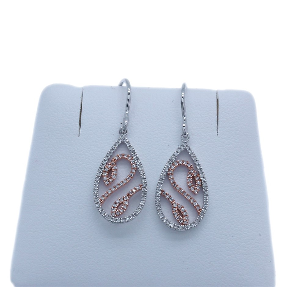 9ct Rose Gold, 0.27ct Diamond Earring