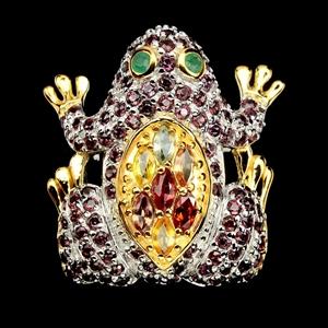 Phenomenal Genuine Emerald & Sapphire Fr