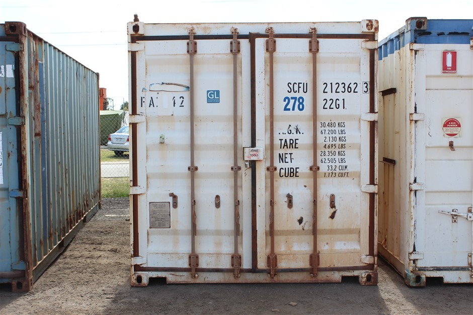 2012 20-Foot Shipping Container