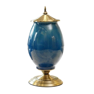 SOGA 40.5cm Ceramic Oval Flower Vase wit