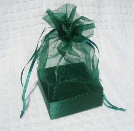 Organza Gift Box Christmas Green
