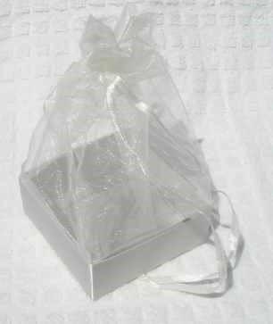 Organza Gift Box Silver