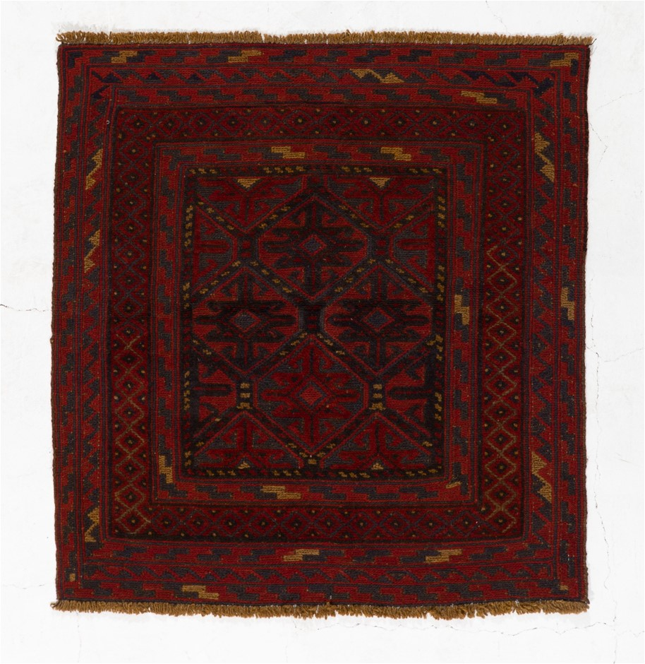 Afghan Meshwani Mixed Weave Hand Knotted Wool Pile Rug Size (cm): 99 x 106