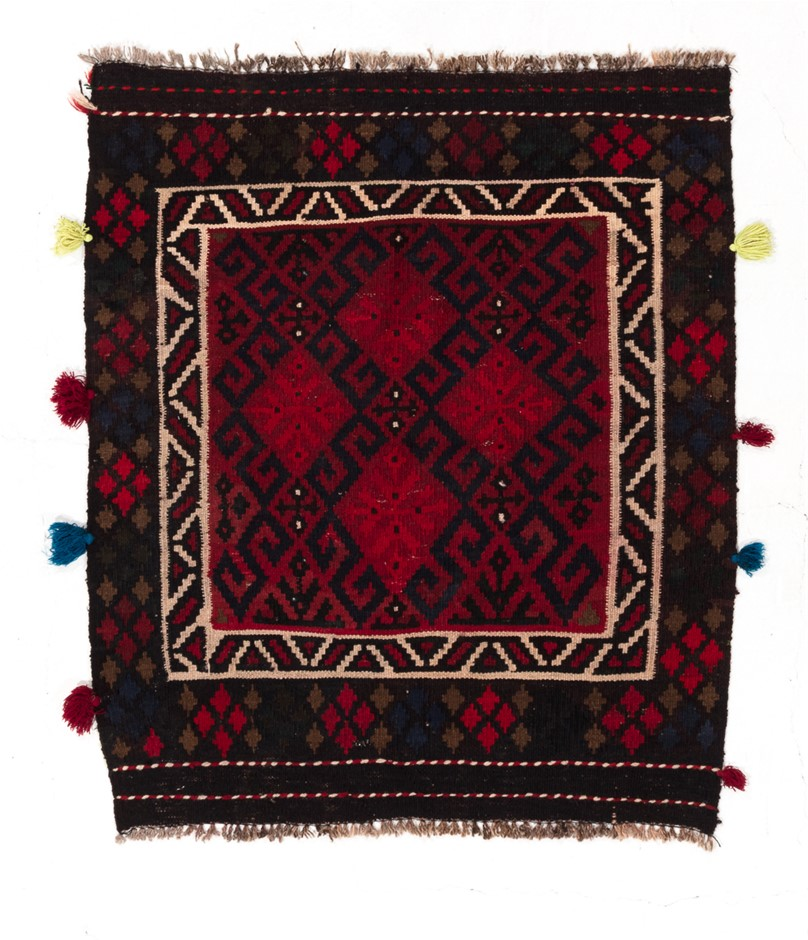 Afghan Mori Hand Knotted Flat Weave Kilim Rug Size (cm): 84 x 102