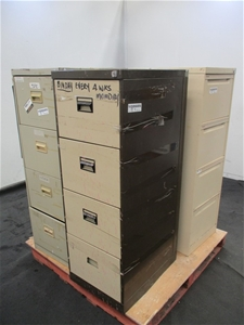 Qty 3 x 4 Drawer Filing Cabinets