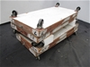 Qty 4 x Wooden Dolly Trolley's