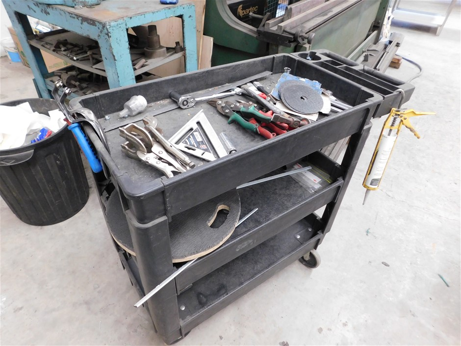 3 Tier Trolley and Contents