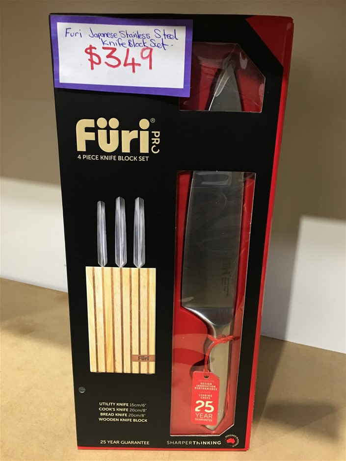 Furi Pro Knife Block Set - 4 Piece Set