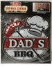 DAD'S BBQ - LED Wall Light Up Sticker Sign / Lamp