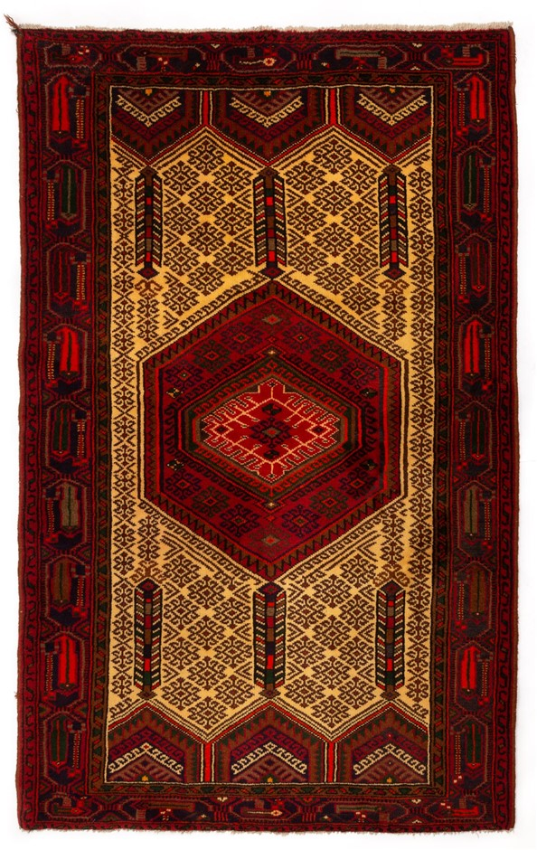 Persian Hamadan Hand Knotted 100% Wool pile Size (cm): 130 x 210