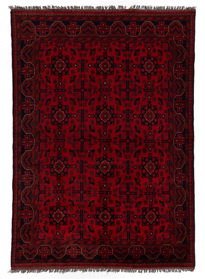 Afghan Khal Mohomadi Hand Knotted 100% Wool Pile Size (cm): 175 x 240