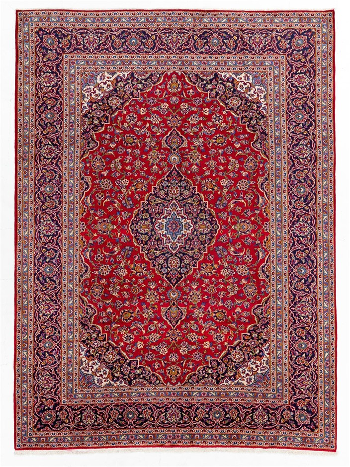 Persian Kashan Hand Knotted 100% Wool Pile Size (cm): 260 x 350