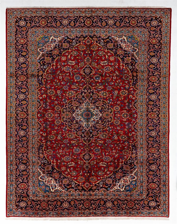 Persian Kashan Hand Knotted 100% Wool Pile Size (cm): 300 x 390