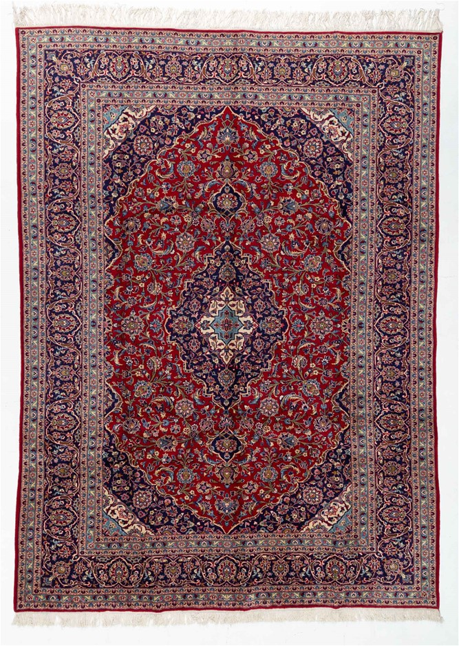 Persian Kashan Hand Knotted 100% Wool Pile Size (cm): 285 x 390