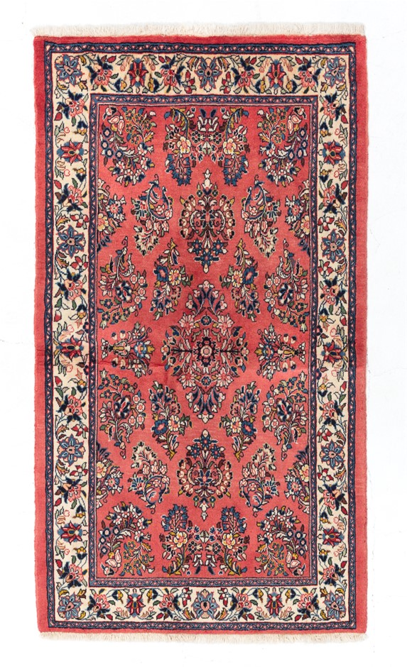 Persian Sarouk Hand Knotted 100% Wool pile Size (cm): 100 x 183