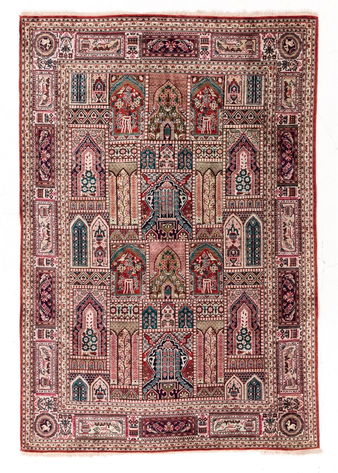 Persian Qom 100% SILK Pile hand knotted Size (cm): 100 x 145