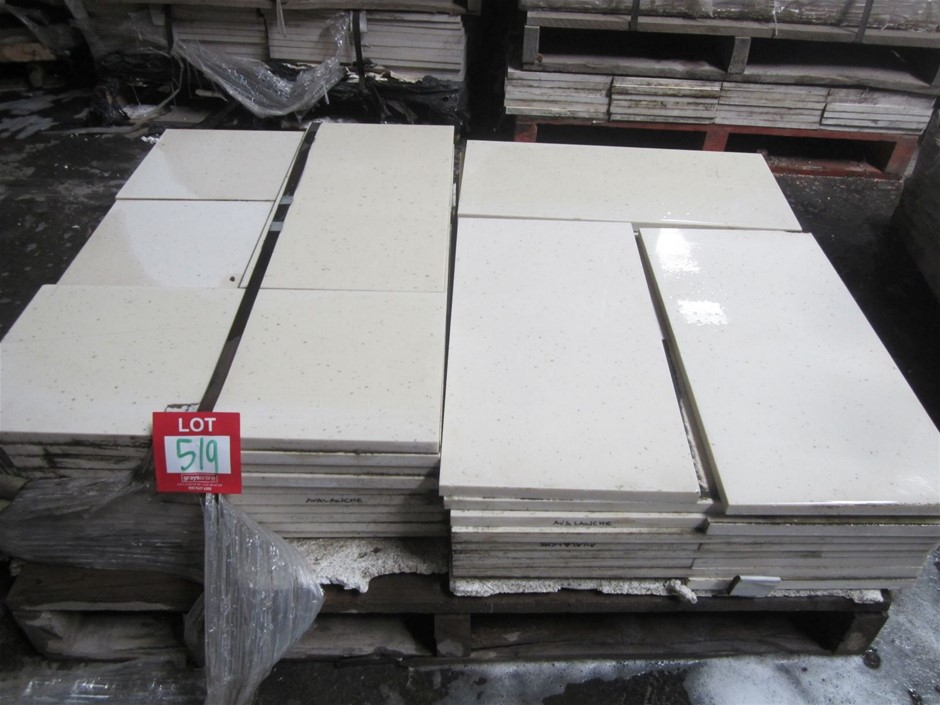 Pallet of 62 Avalanche Caesarstone Pavers 600mm x 300mm x 20mm