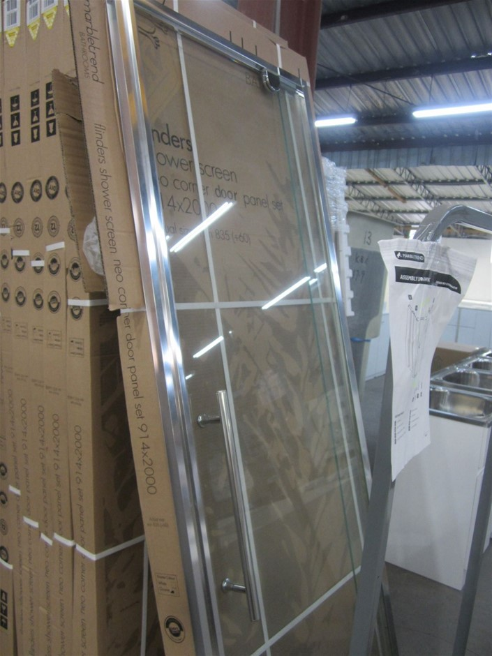 Glass Shower Door Only. 650mm - 700mm x 2000mm. New in Box