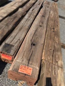 Grey Face Wire Brushed Hardwood Post – 4