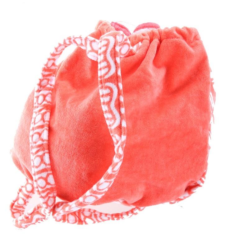 Convertible Backpack Beach Towel. ``Summer Vibes`` Orange/ White Print. Buy
