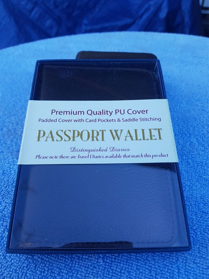 10 X Passport wallet, premium quality PU cover, padded cover with card p