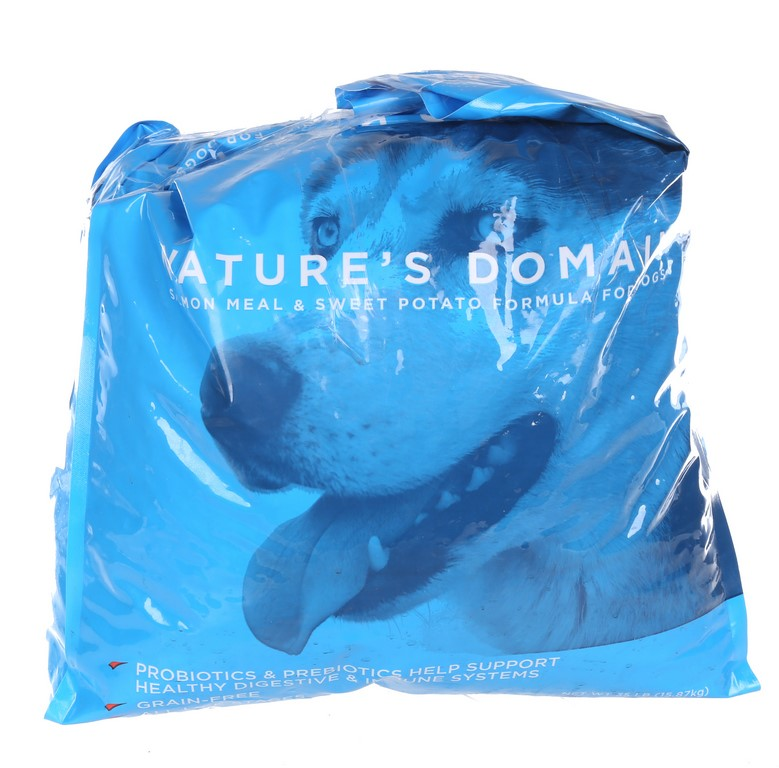 NATURE`S DOMAIN Salmon Meal & Sweet Potato Formula for Dogs. 16kg. N.B Bag