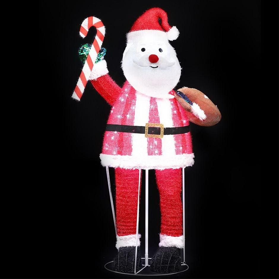 Christmas Motif Lights Santa Foldable 120 LED Outdoor Decoration