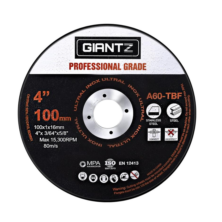"Giantz 50 x 4"" Cutting Disc 100mm Metal Cut Off Wheel Angle Grinder Steel"