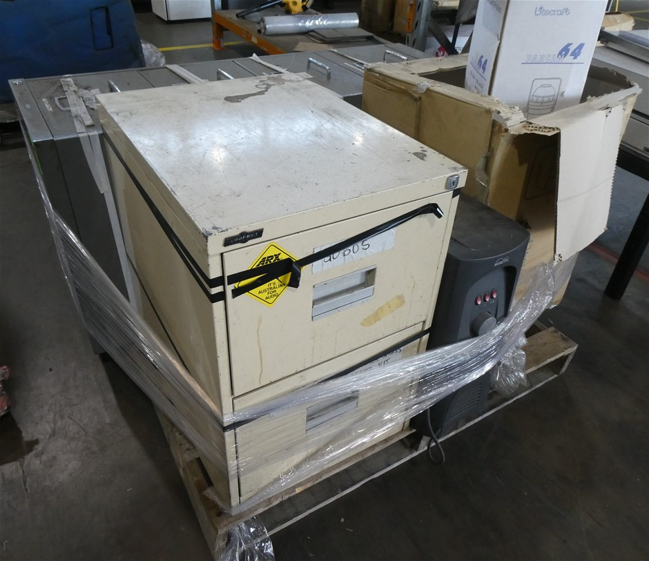 Pallet of Assorted Audio/Lighting and Office Equipment
