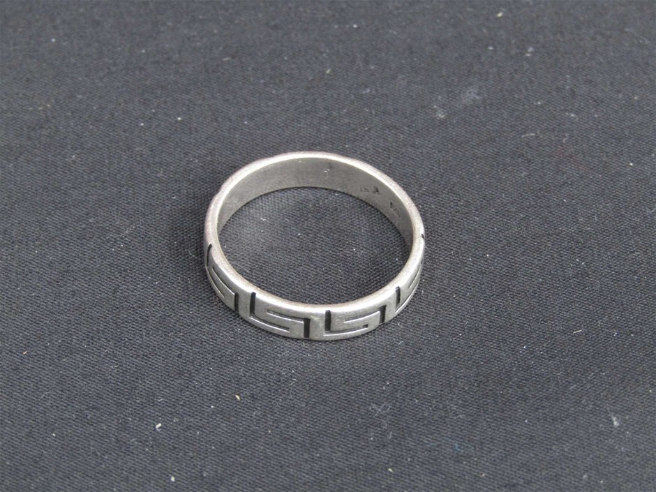 Silver Coloured Mens Ring