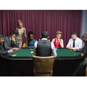 185cm 8 Player Folding Poker Blackjack T