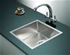 490x440mm Handmade Stainless Steel Kitchen Laundry Sink with Waste
