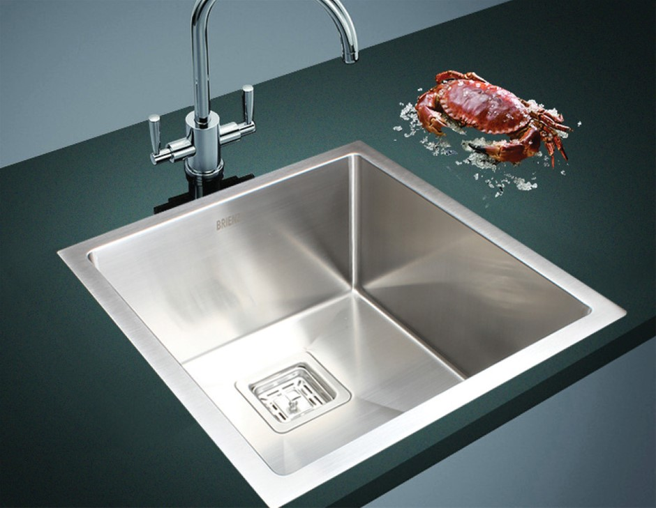 430x455mm Handmade 1.5mm Stainless Steel Kitchen Sink with Square Waste