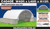 2019 Unused Container Shelters - Melbourne