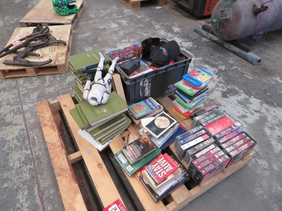 Assorted Books Videos DVD's