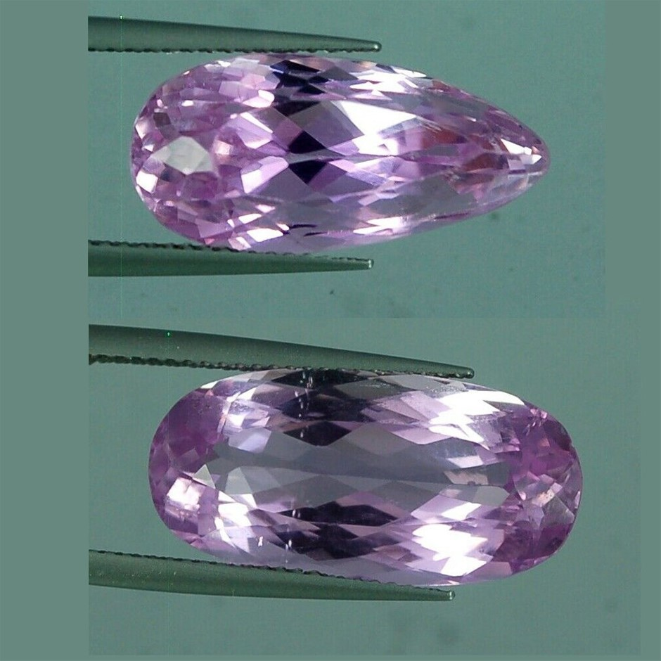 Two Loose Pink Kunzite, 26.75ct in Total